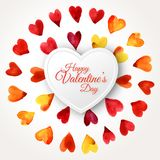 Watercolor Happy Valentines Day Hearts Cloud with stock illustration