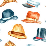 Watercolor hat collection Royalty Free Stock Photo