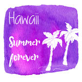 Watercolor Hawaiian, tropical graphic design Stock Photo