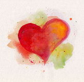 Watercolor heart Royalty Free Stock Image