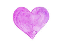Watercolor heart art Stock Photography