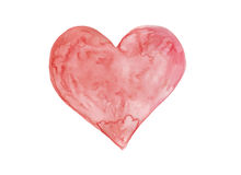 Watercolor heart art Royalty Free Stock Images