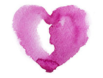 Watercolor heart. Concept - love, relationship, Royalty Free Stock Photos