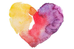 Watercolor heart. Concept - love, relationship, Stock Photo