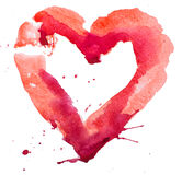 Watercolor heart. Concept - love, relationship, art, painting Stock Photography