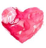 Watercolor heart. Concept - love, relationship, art, painting Royalty Free Stock Photography