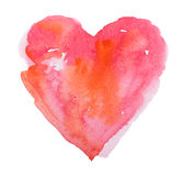 Watercolor heart. Concept - love, relationship, art, painting Royalty Free Stock Photo