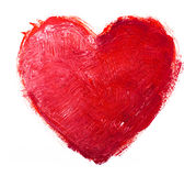 Watercolor heart. Concept - love, relationship, Royalty Free Stock Photography