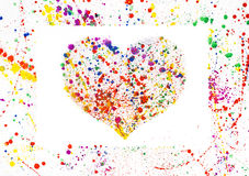 Watercolor heart frame Royalty Free Stock Photos