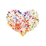 Watercolor heart frame Royalty Free Stock Photo
