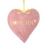 Watercolor heart with a golden ribbon Royalty Free Stock Photo