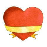 Watercolor heart Stock Images