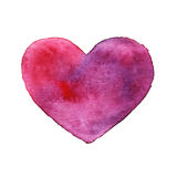 Watercolor heart, isolated Stock Photography