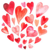 Watercolor heart set Stock Photography