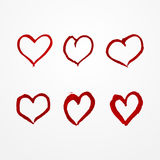 Watercolor heart set Royalty Free Stock Images