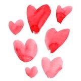 Watercolor heart set Stock Photo