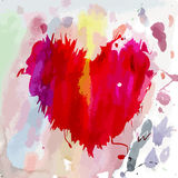 Watercolor heart shape Royalty Free Stock Photos