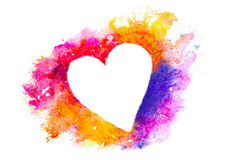 Watercolor heart silhouette Royalty Free Stock Images