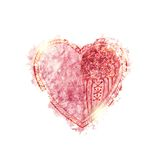 Watercolor heart with sparkles Royalty Free Stock Photo