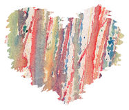 Watercolor heart from splashes Royalty Free Stock Photography