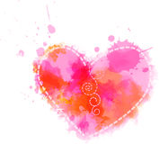 Watercolor heart symbol Stock Image