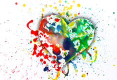 Watercolor heart Royalty Free Stock Images