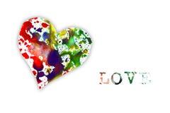Watercolor heart Stock Photos