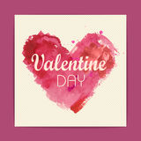 Watercolor heart. Valentine background Royalty Free Stock Photos
