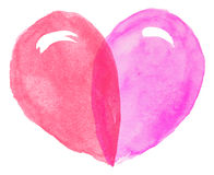 vector watercolor heart Stock Photo