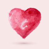 Watercolor heart, vector illustration Stock Photos