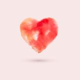 Watercolor heart, vector illustration Royalty Free Stock Image