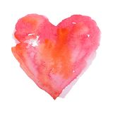 Watercolor heart, vector illustration Stock Image