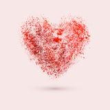 Watercolor heart, vector illustration Stock Image
