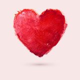 Watercolor heart, vector illustration Royalty Free Stock Photos