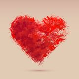 Watercolor heart, vector illustration Royalty Free Stock Images