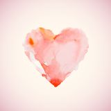 Watercolor heart vector illustration Royalty Free Stock Photography