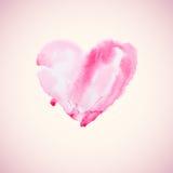 Watercolor heart vector illustration Stock Image