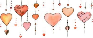 Watercolor heart vector Stock Images