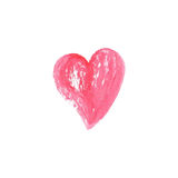Watercolor heart on white background . Sketch style stock images