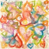 Watercolor hearts Royalty Free Stock Photo