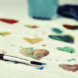 Watercolor hearts Royalty Free Stock Photo