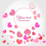 Watercolor hearts greeting card  Stock Photos