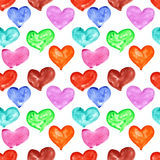 Watercolor hearts seamless Royalty Free Stock Photography