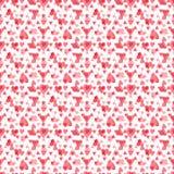 Watercolor hearts seamless pattern illustration Royalty Free Stock Photo