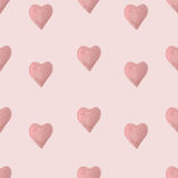 Watercolor hearts seamless pattern Stock Photography