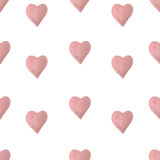 Watercolor hearts seamless pattern Royalty Free Stock Photo