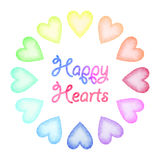Watercolor hearts set Royalty Free Stock Photo