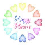 Watercolor hearts set Royalty Free Stock Photo
