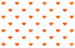 Watercolor hearts on white background. Stock Photo
