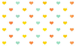 Watercolor hearts on white background. Stock Image